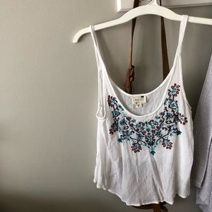 Never worn Pacsun embroidered & beaded tank
